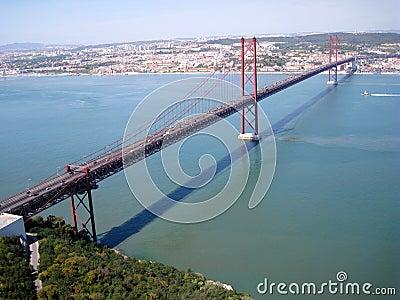 Suspension bridge in Lisbon, Portugal