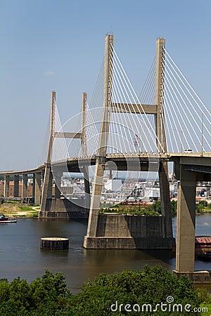 Suspension Bridge In Mobile Alabama Stock Photos Image