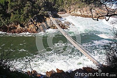Suspension bridge in South Africa