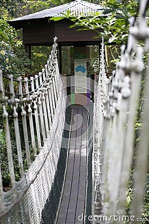 Suspension bridge to Hut