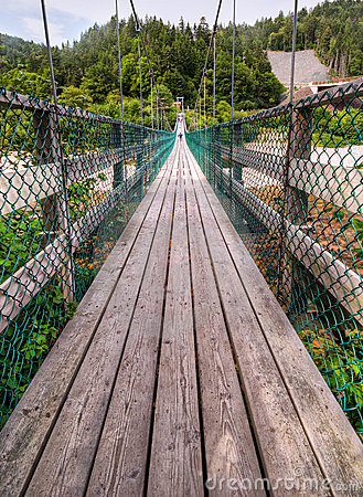 Suspension footbridge, Fundy Trail, NB