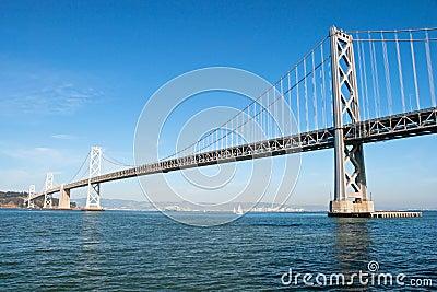 Suspension Oakland Bay Bridge in San Francisco