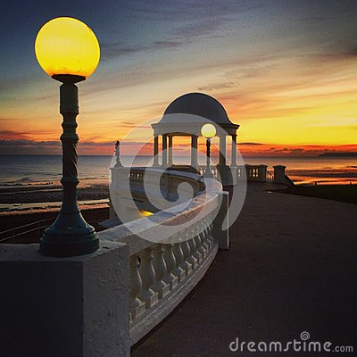 Free Sussex UK Coast At Dusk, At Bexhill On Sea Stock Photography - 80605402