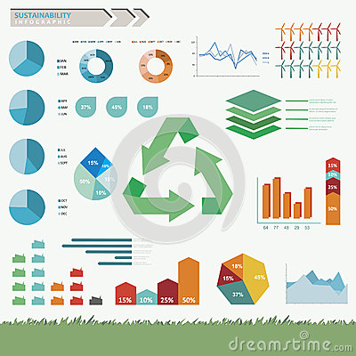 Sustainability Infographic Vector Stock Photos Image