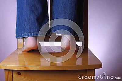 Sustento em seus dedos do pé
