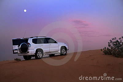SUV in the desert.