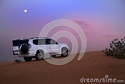 SUV in the desert.