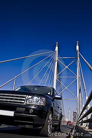 SUV on Nelson Mandela Bridge