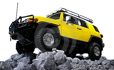 SUV off road isolated