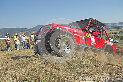 SUV race at outdoors. Editorial Photo