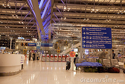 Suvarnabhumi Bangkok International Airport Editorial Stock Image