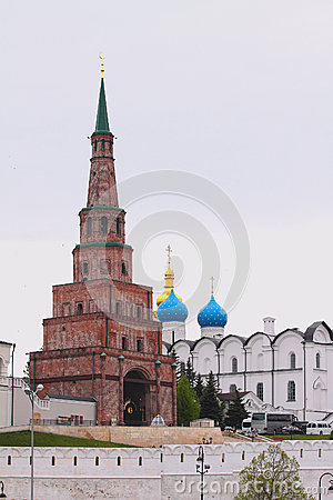 Free Suyumbike Tower And Annunciation Cathedral. Tatarstan, Russia Stock Images - 93361064