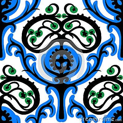 Free Suzani, Ethnic Pattern With Kazakh Motifs Royalty Free Stock Image - 34762076
