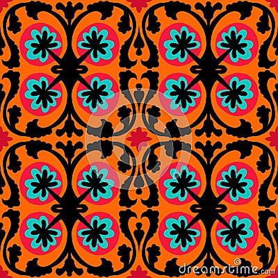 Free Suzani Pattern With Uzbek And Kazakh Motifs Royalty Free Stock Photography - 37825197
