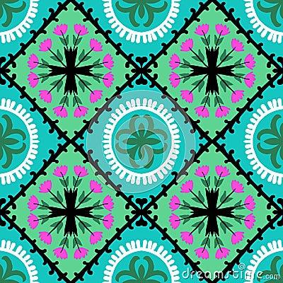 Free Suzani Pattern With Uzbek And Kazakh Motifs Stock Image - 37825231