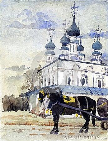 Suzdal watercolor