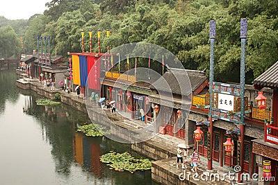Suzhou Street in Summer Palace, Beijing Editorial Stock Photo