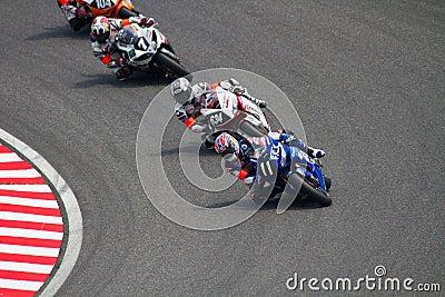 SUZUKA, JAPAN July 29. Rider of F.C.C. TSR Honda Editorial Photography