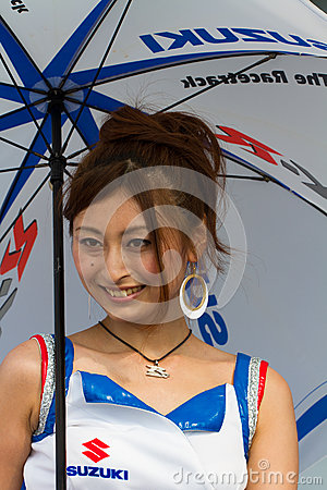 SUZUKA, JAPAN - July 29 : Unidentified Pit Babes Editorial Photo