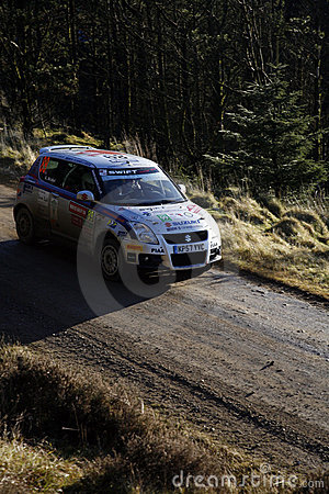 Suzuki Team at Wales Rally GB 2008 Editorial Photography