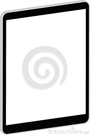 Svart affärsminnestavla 3D som är liknande till iPad