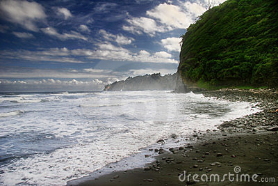Svart dagsand för strand