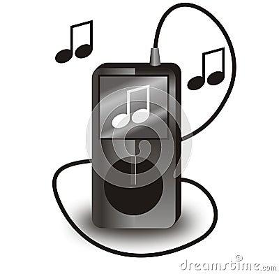 Svart iPod vektor