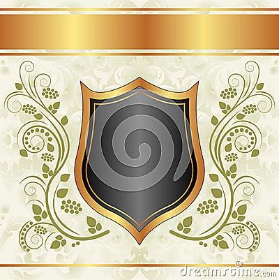 Svart krämig guldbakgrund