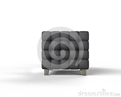 Läderfåtöljer : Svart läderfåtölj på vit bakgrund arkivfoto bild