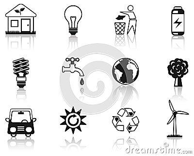 Svart miljösymbolsset