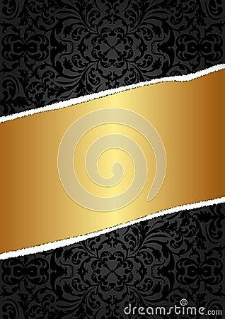 Svart och guld- bakgrund