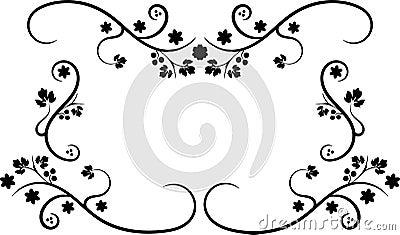 Svart ram swirly