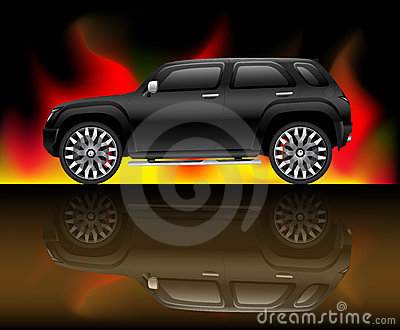 Svart SUV-fordon
