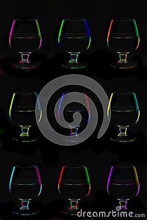 Svarta bocals nio för bakgrund över
