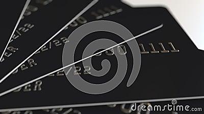Svarta plast- kreditkortar, loopable animering