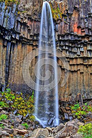 Svartifoss waterfall in HDR, Iceland