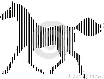 Svartvit häst