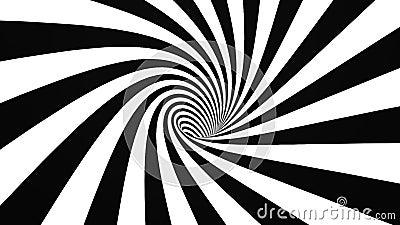 Svartvit hypnotisk spiral