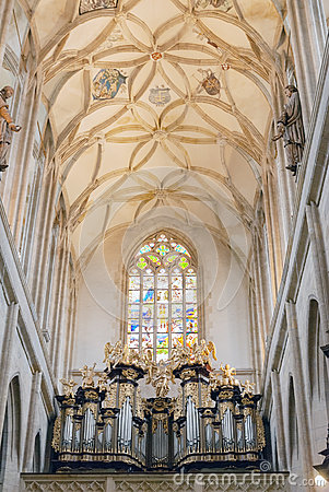 Free Svata Barbora -St. Barabara Church Cathedral Interior Ceiling, Kutna Hora Stock Photography - 78014632