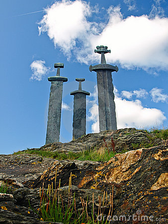 Sverd i fjell (English: Swords in Rock) is a monum