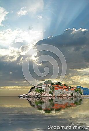 Free Sveti Stefan Island Stock Images - 16069934