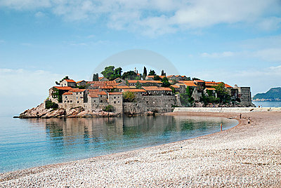 Sveti stefan island resort in montenegro