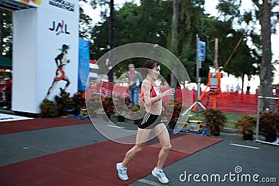 Svetlana Zakharova wins 2009 Honolulu Marathon Editorial Stock Image
