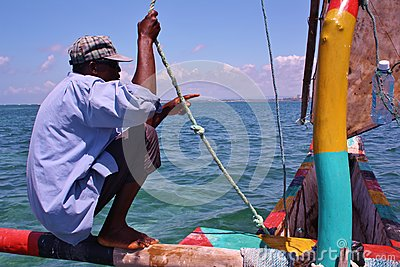 Swahili sailor. Kenya. Editorial Image
