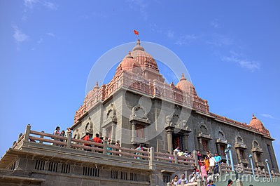 Swami Vivekananda memorial. Kanyakumari,  India Editorial Stock Photo