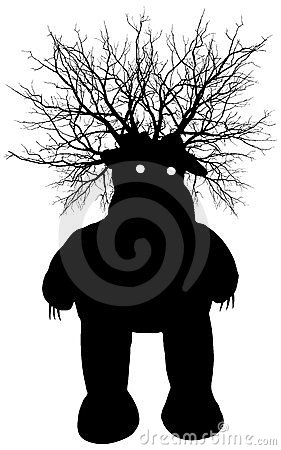 Swamp monster - vector silhouette