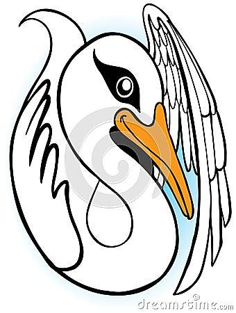 Swan Cartoon