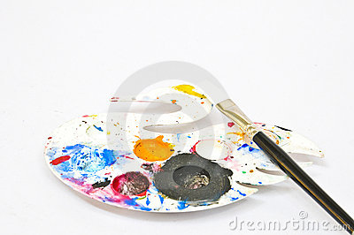 Swan color palette with a black brush