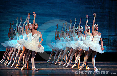 Swan Lake ballet performed by Russian Royal Ballet Editorial Stock Image