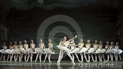 Swan lake ballet performed by russian royal ballet Editorial Stock Photo